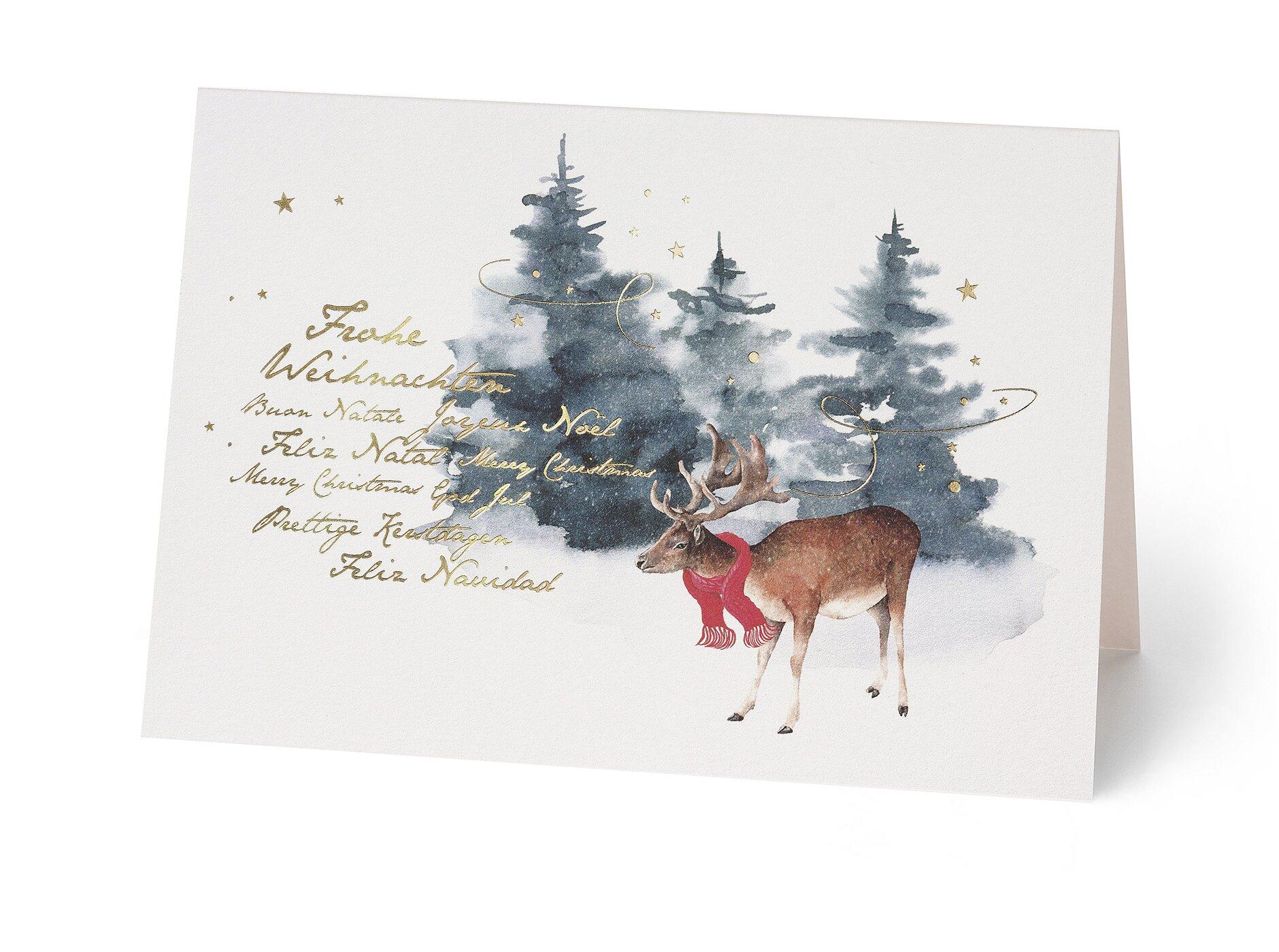 Einlegeblätter Für Weihnachtskarten.Weihnachtskarten Inkl Kuvert